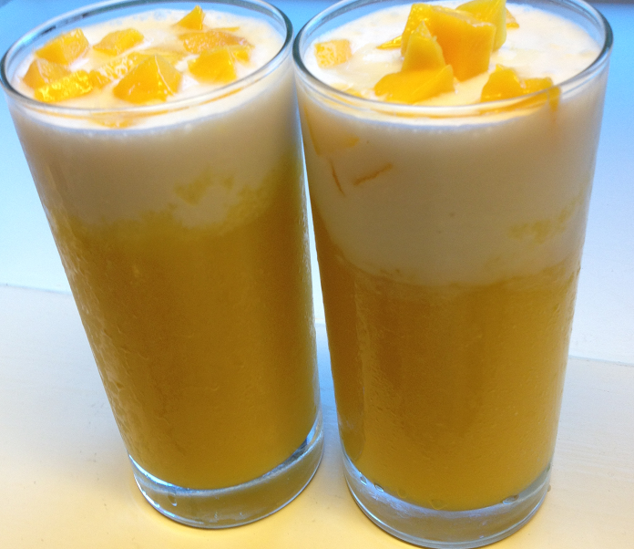 refreshing mango coconut drink
