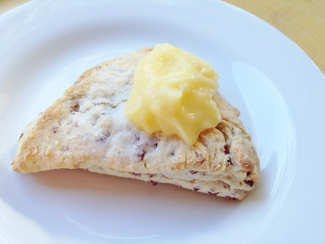Enjoy your scone with some lemon curd