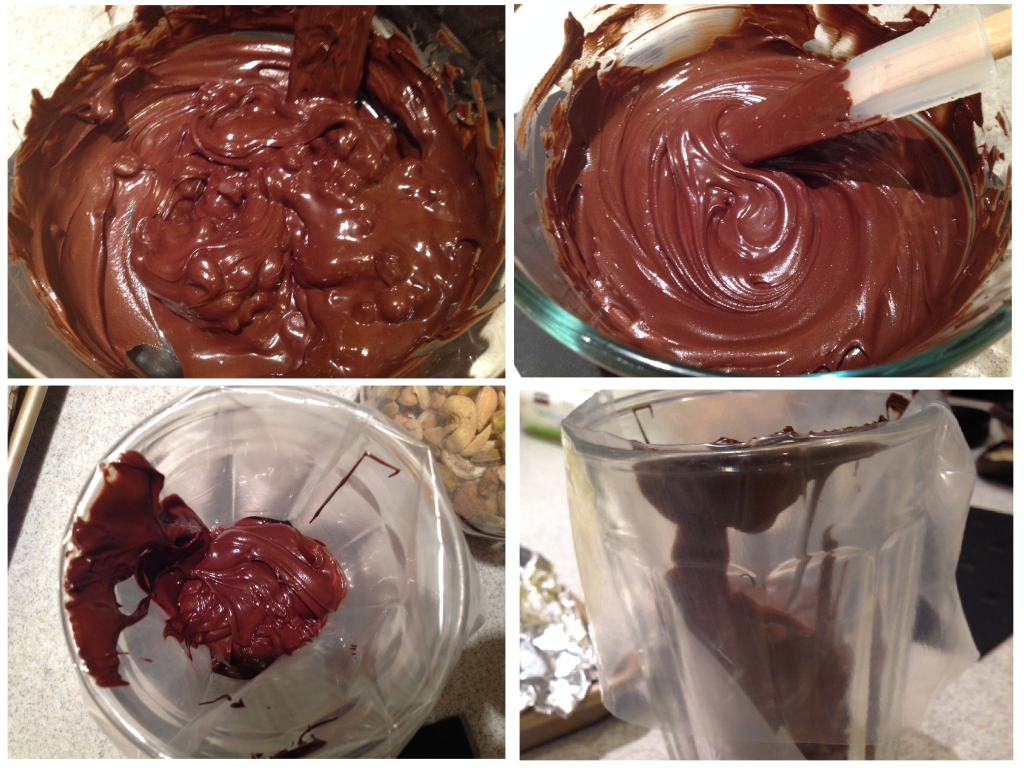 Melting chocolate for caramel apples