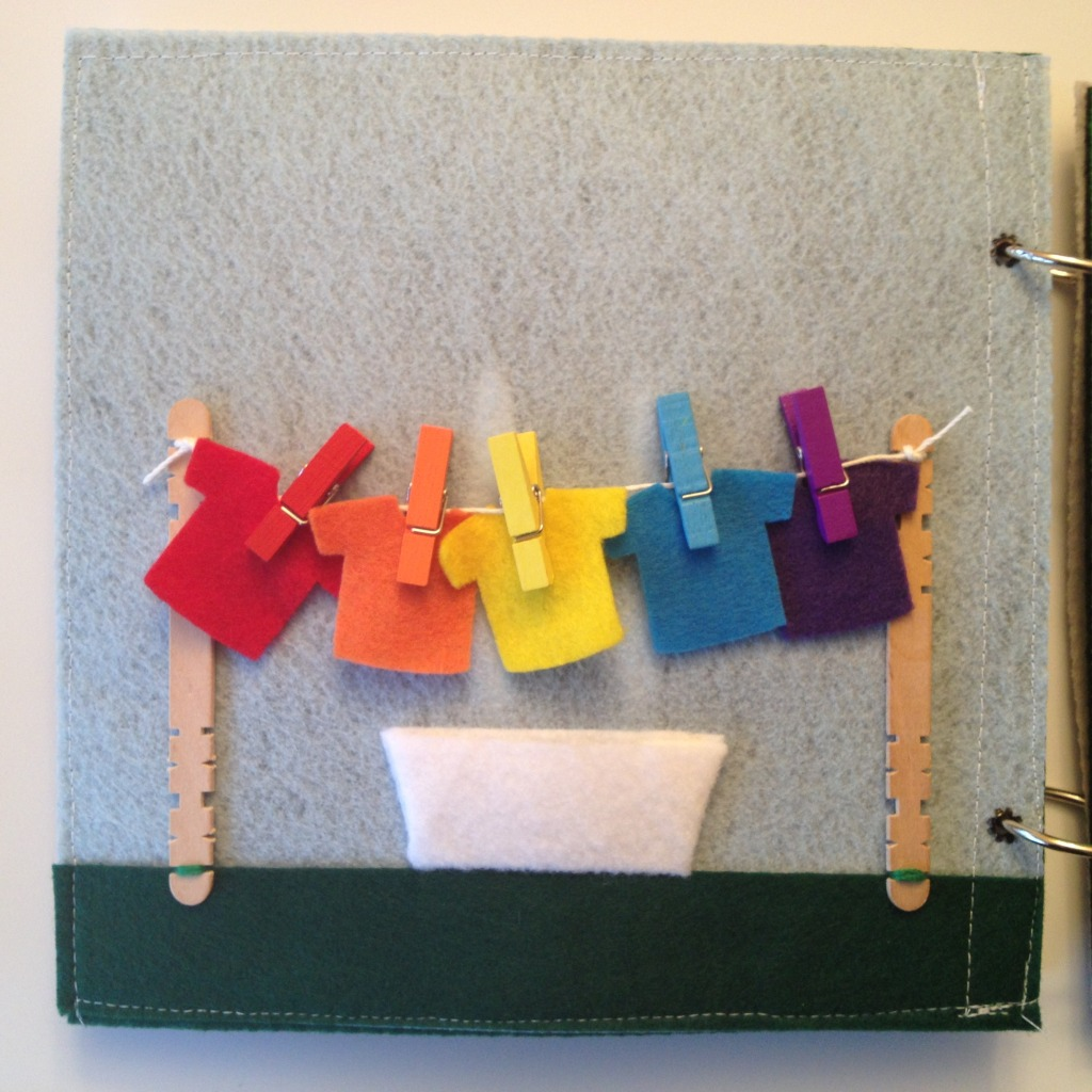 Clothesline quiet book page