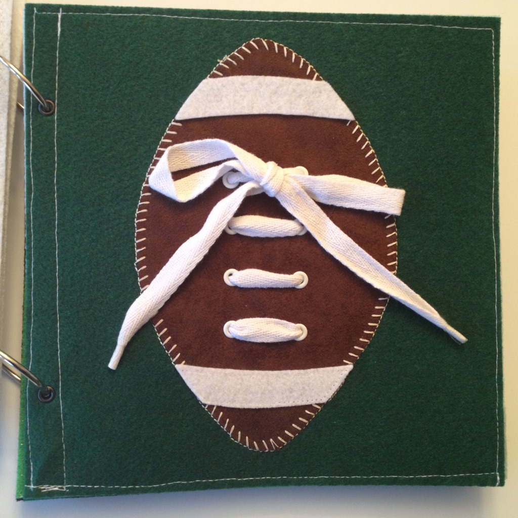 Lacing football quiet book page