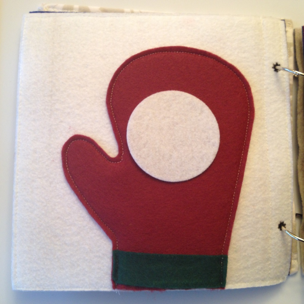 Mitten and snowball quiet book page