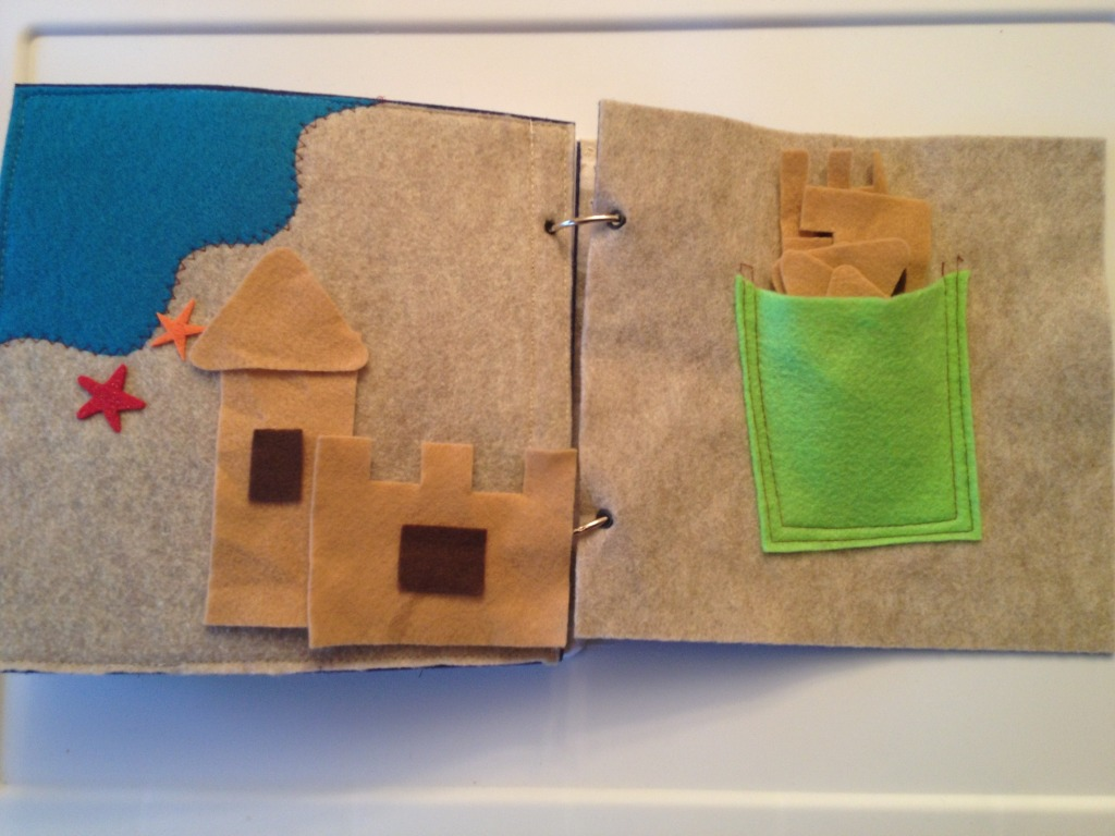 Sandcastle scene quiet book page