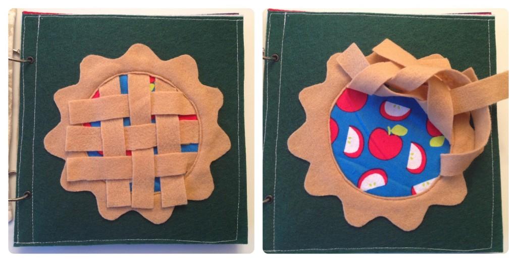 Weaving Apple quiet book page