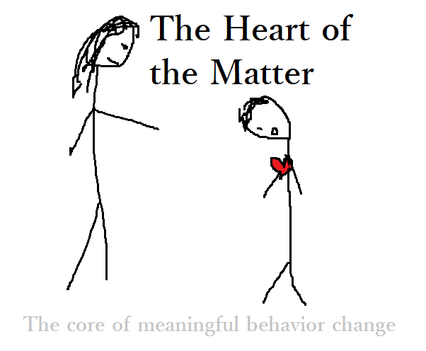 How to talk about the heart of the matter in changing behavior