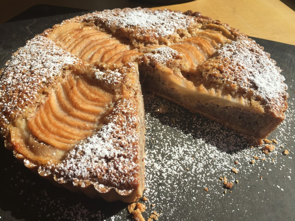 Pear and Almond Tart! So delicious!! (1)