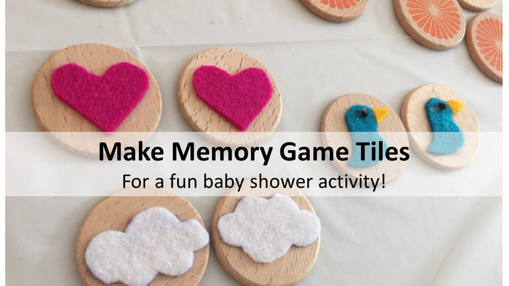 Make Memory Game Tiles for a baby shower activity